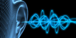 image of an ear with soundwaves
